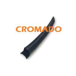 JUNQUILLO GOMA CRISTAL cromado x metro